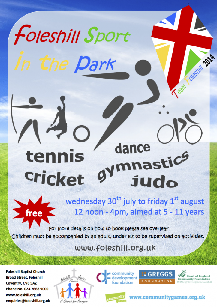 Sport in the Park 2014-1 - Flyer