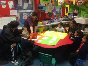 During 'Stay and Play' we played our board games with our parents. What did we use the dice for?