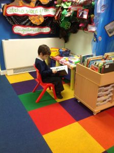 Taking time out to read a book.