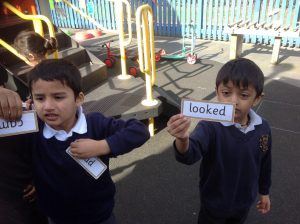 Can you read the word that Vinay found? Can you put it into a sentence?