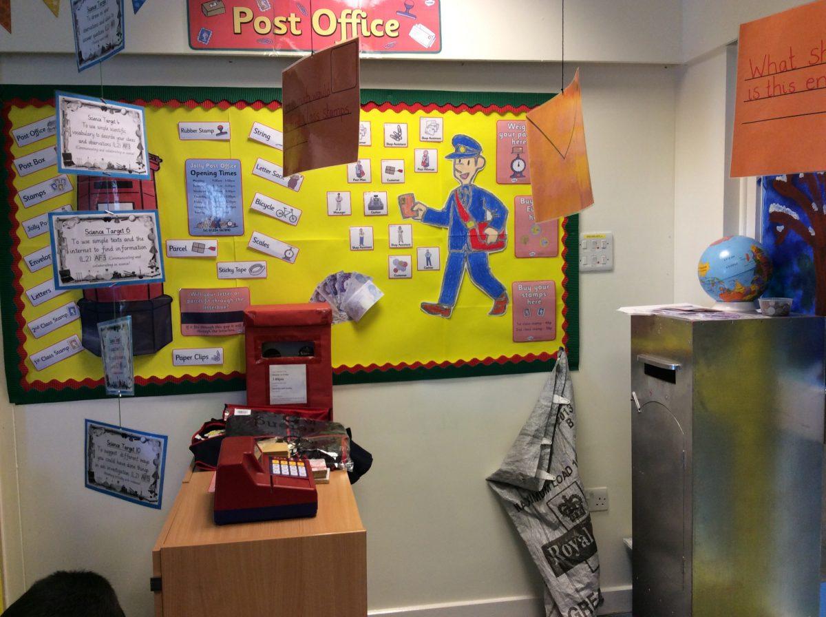Post office display broad heath primary school for Office display board