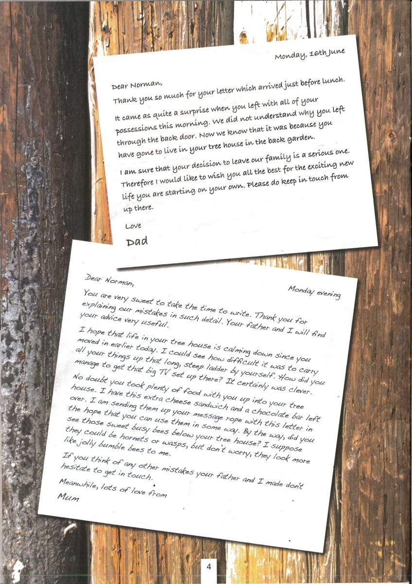 A letter written from inference broad heath primary school your task is to write the letter that norman had written to his parents before they replied with these on the blog spiritdancerdesigns Gallery