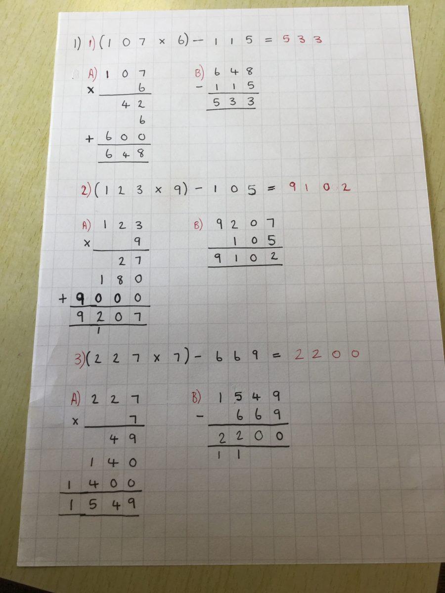 year 3 maths homework