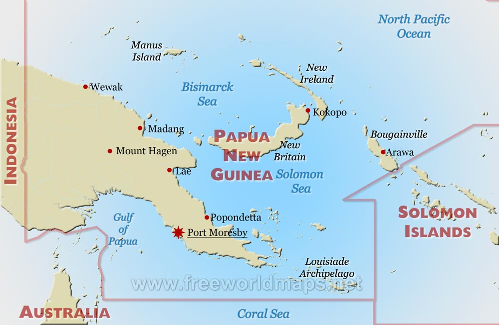 Year 2 Papua New Guinea map work Broad Heath Primary School