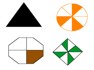 Image result for fractions of shapes