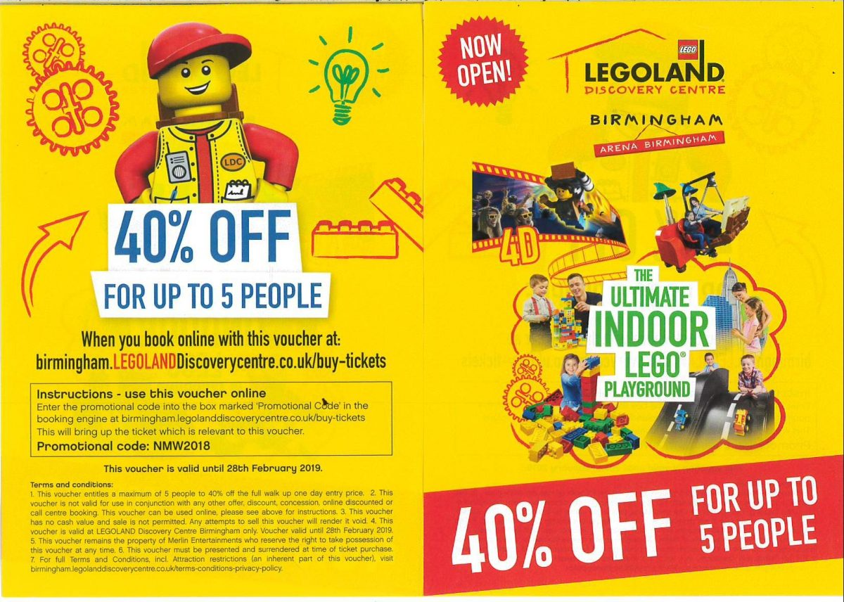 Legoland 40% off! | Broad Heath Primary School